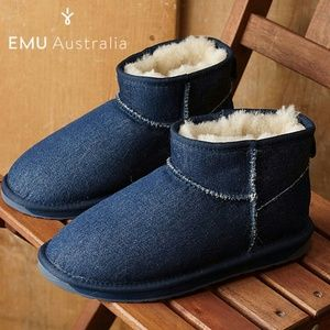 Emu Stinger Dark Denim Micro Boots Sz 6
